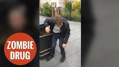 Shocking video of men who turned into zombies by Spice drug
