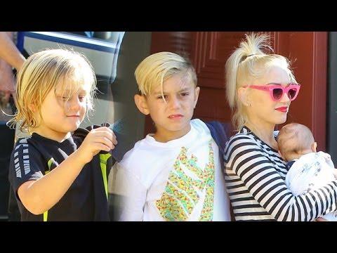 Gwen Stefani And Family Leaving Joel Silver