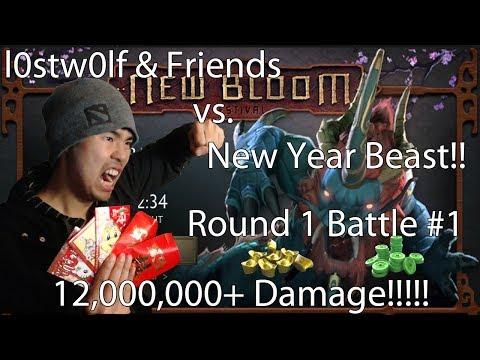 12,000,000+ DAMAGE RETURN OF THE YEAR BEAST v3.0 ROUND 3 Battle #1 - Dota 2 - l0stw0lf plays