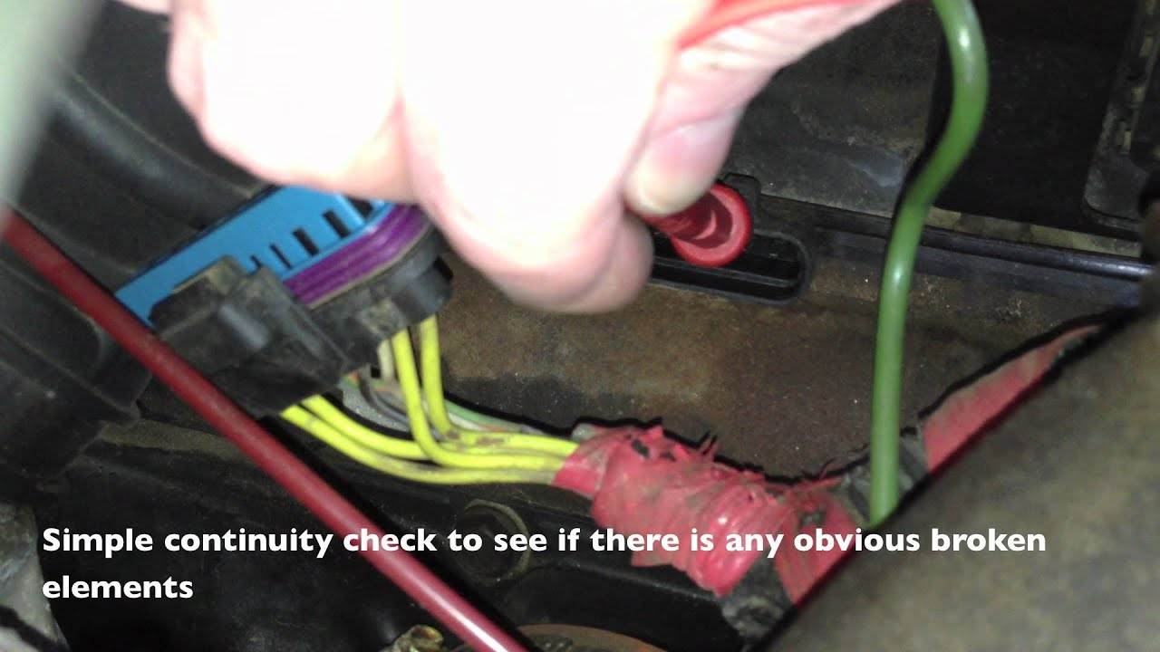 Ford 1 Wire Alternator Wiring Glow Plug Resistance Check 7 3 Powerstroke Youtube