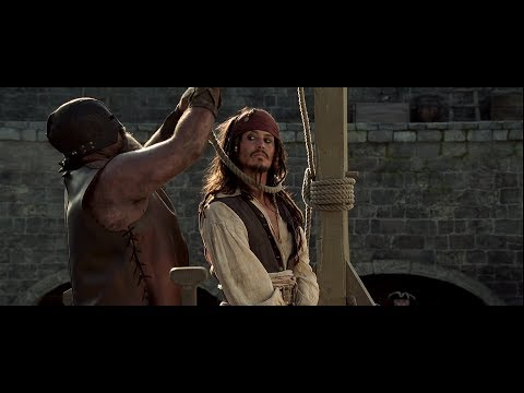 End Scene of The Pirates of Caribbean- Captain Jack Sparrow Escape 1080HD