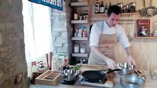How to make Okonomiyaki (Live - unedited)