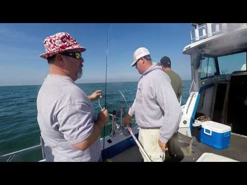 Casting For Lake Erie Walleye: Sea Breeze Charters