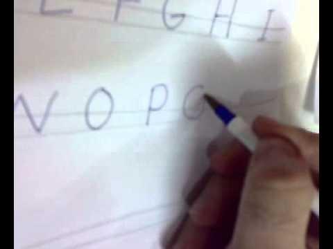 How To Write English Letters طريقة كتابة الحروف الإنجليزية Youtube