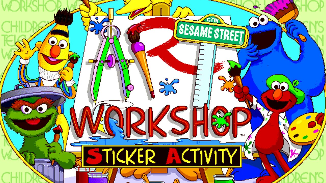 Sesame street art workshop 1995 playable demo
