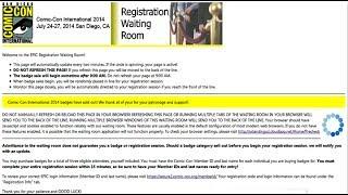 Comic Con 2014 Registration Waiting Room
