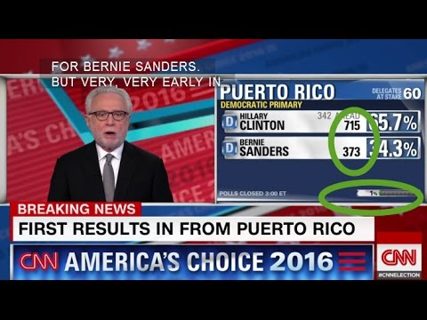 Puerto Rico Primary FIRST POLLING RESULTS Bernie Sanders Hillary Clinton VERY CLOSE 6/5/16 updated