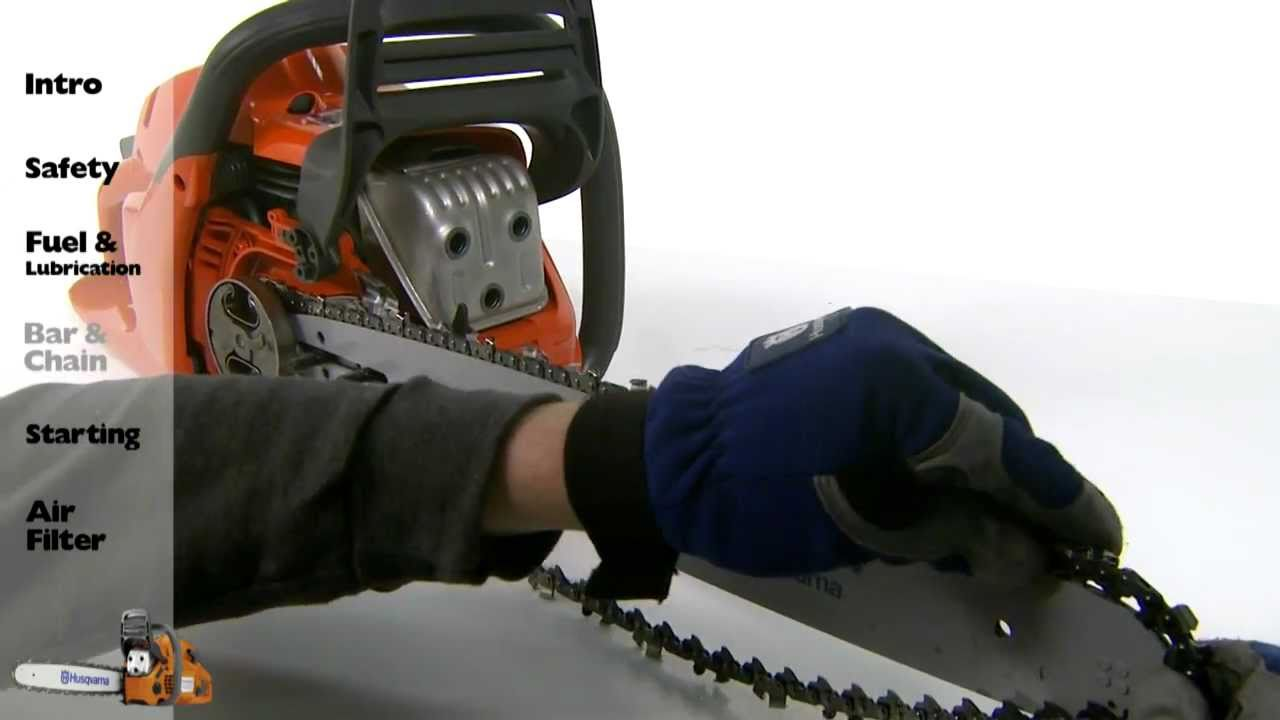 husqvarna chainsaw starting instructions