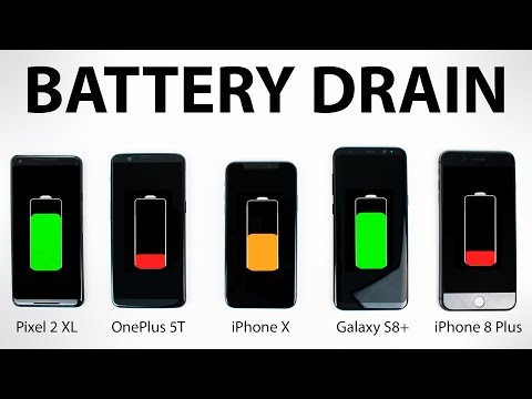 Download Youtube: Google Pixel 2 vs iPhone X vs OnePlus 5T vs Galaxy S8 - BATTERY DRAIN Test!