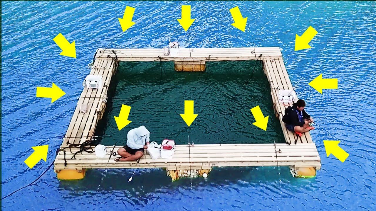 【ヒット連発】12本の釣り竿で釣りしてみた【ハイサイ水族館#10】