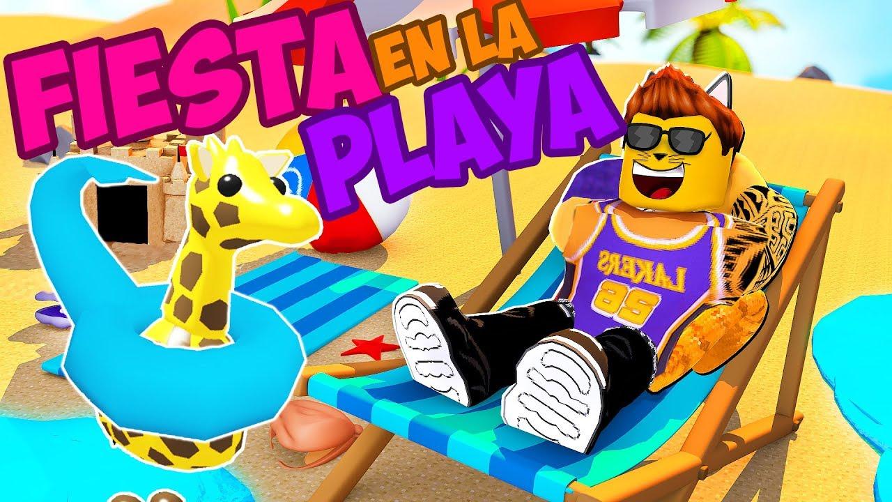 Fiesta En La Playa Roblox Beach House Roleplay En Espanol Youtube Super Fiesta En La Playa De Adopt Me Roblox Ganadores Del Sorteo Robux Youtube