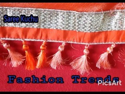 Saree Tassel Kuchu Making With Beads At Home Design 13 Youtube