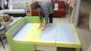 видео Раскладной диван на кухню со спальным местом