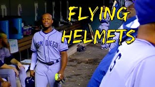MLB Players Throwing Helmets