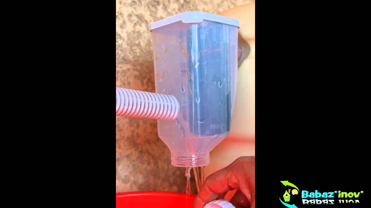 Filtre eau collecteur d 39 eau de pluie youtube - Collecteur eau de pluie gouttiere ...