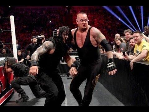 NEW THE UNDERTAKER VS  Roman Reigns raw 2016 HD ....................