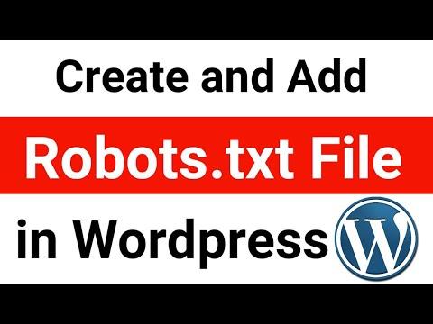 Wordpress Robots.txt In Hindi | Create And Add Robots.txt File For Wordpress