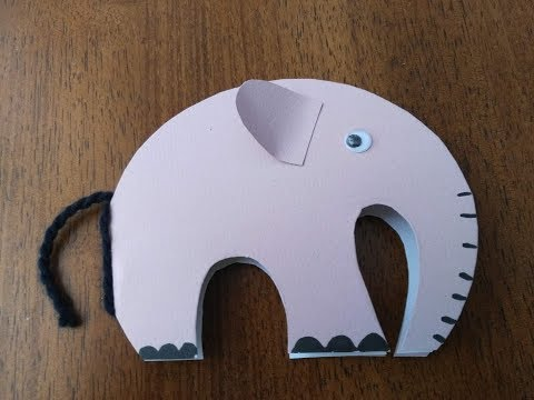 DIY Crafts for Kids - How to Make an Elephant Greeting Card for Kids + Tutorial !
