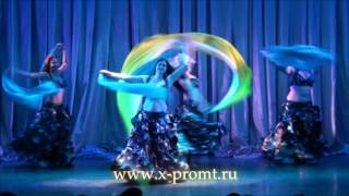 "Танец живота с поями ""Шторм"". Veil poi bellydance ""Storm"". (""Moroccan Roll"" - Vanessa Mae)"