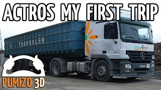 MERCEDES BENZ Actros 1844 - My first trip...