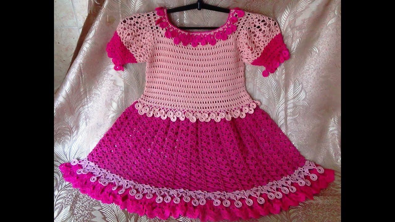 Вязание крючком для начинающих видео уроки платье для детей