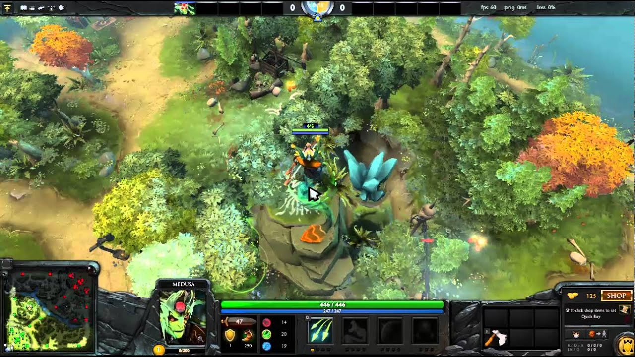 how to up medusa to cliff with iron branch dota 2 map 6 86 youtube