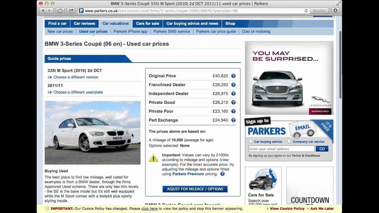 Parkers Car Valuation Youtube