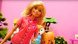 Барби ухаживает за животными - Видео для девочек