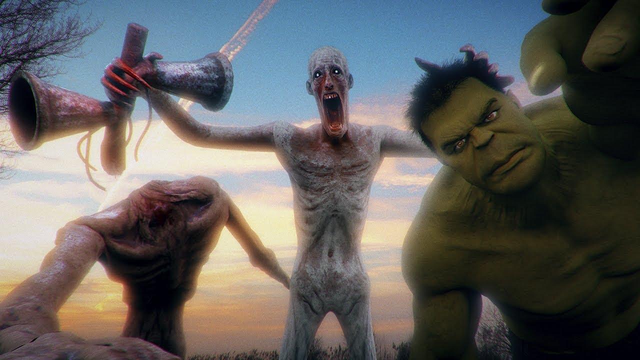 Siren Head vs SCP-096 vs Hulk