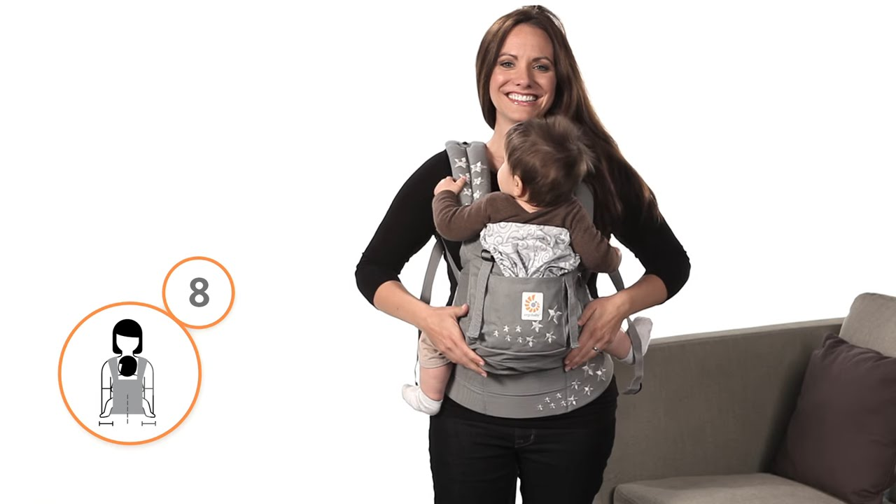 a245c64fd93 How Do I Front Carry in the Ergobaby Carrier - YouTube