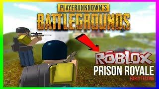 Roblox-Prison Royale 💥 [jogador desconhecido BattleGrounds] 💥 atingimos 5K 😲