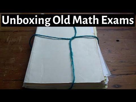 Unboxing Old Math Homework/Exams (College Algebra, Precalculus/Trigonometry, Calculus 1, Calculus 3)
