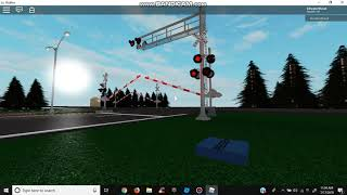Automatic Train Passes Union Pacific Railroad Crossing (ROBLOX)