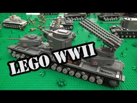 LEGO Fictional Russian WWII Tanks   World War Brick 2017