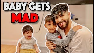 Baby Gets MAD When I Hug His Brother!! (HILARIOUS)
