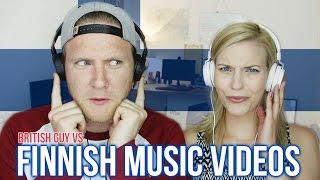 British Guy Reacts To FINNISH MUSIC VIDEOS - Part 2 | Dave Cad (w/ Cat Peterson)