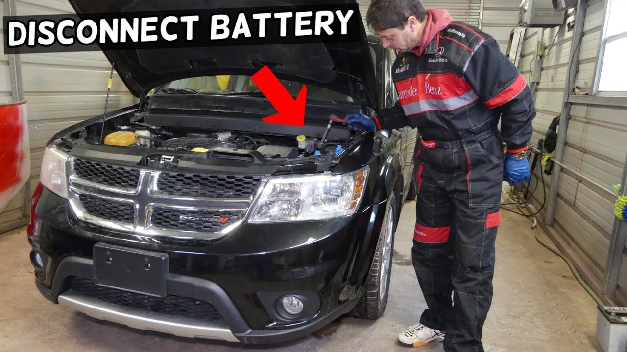 how to disconnect car battery on dodge journey fiat freemont youtube. Black Bedroom Furniture Sets. Home Design Ideas