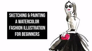 Sketching & Painting a Watercolor Fashion Illustration For Beginners- Edited in Procreate