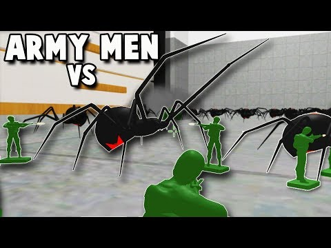 HUGE BLACK WIDOW SPIDER vs ARMY MEN (Home Wars Gameplay Part 3 - Army Men Battle Simulator)