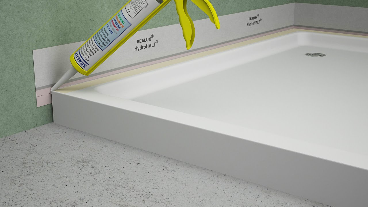 Fitting A Shower Tray Hydrohalt Installation Youtube