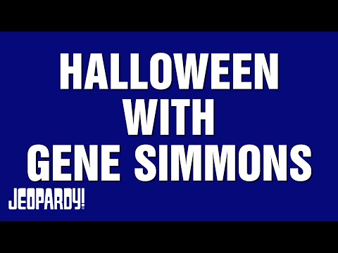 K.C. Wheeler - G Simmons of KISS On Jeopardy Trebek Wears Makeup