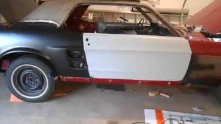 67 Mustang Restoration Door Installation Part 2