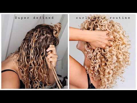 Super defined CURLY HAIR routine - what a real hair routine looks like