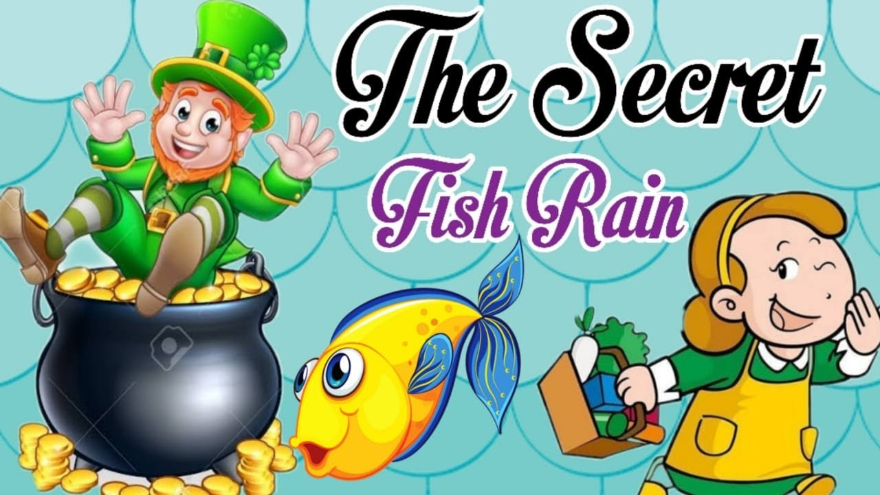 The Secret Fish Rain | Animated story | Cartoons for Kids | English Short Story
