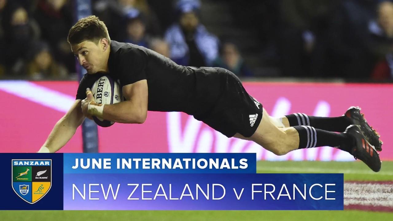 2018 June Test Series: - First test New Zealand v France