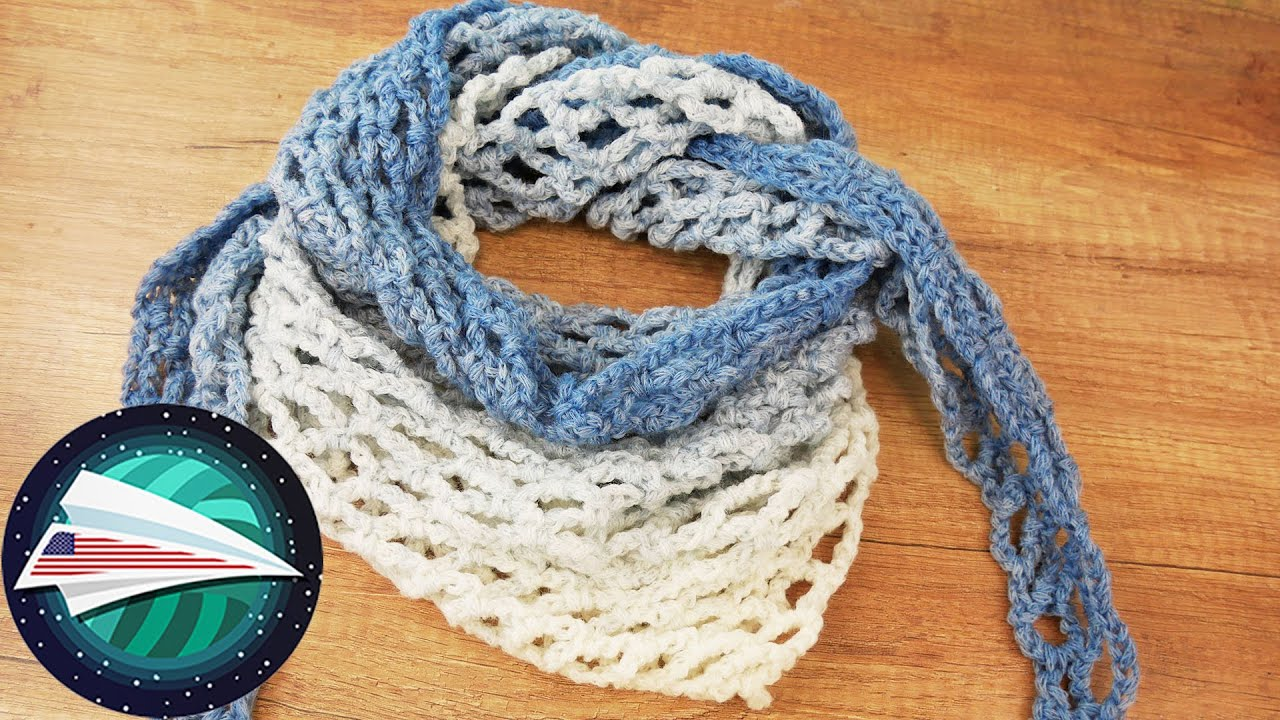 Light Spring Triangle Scarf | Learning to Crochet | Easy Crocheting for Beginners