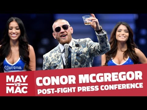Conor McGregor Post-Fight Press Conference After Mayweather Fight | FanSided | Sports Illustrated