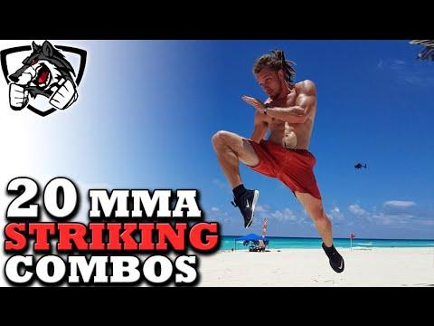 20 Unique MMA Striking Combos (Muay Thai, Taekwondo, Boxing)