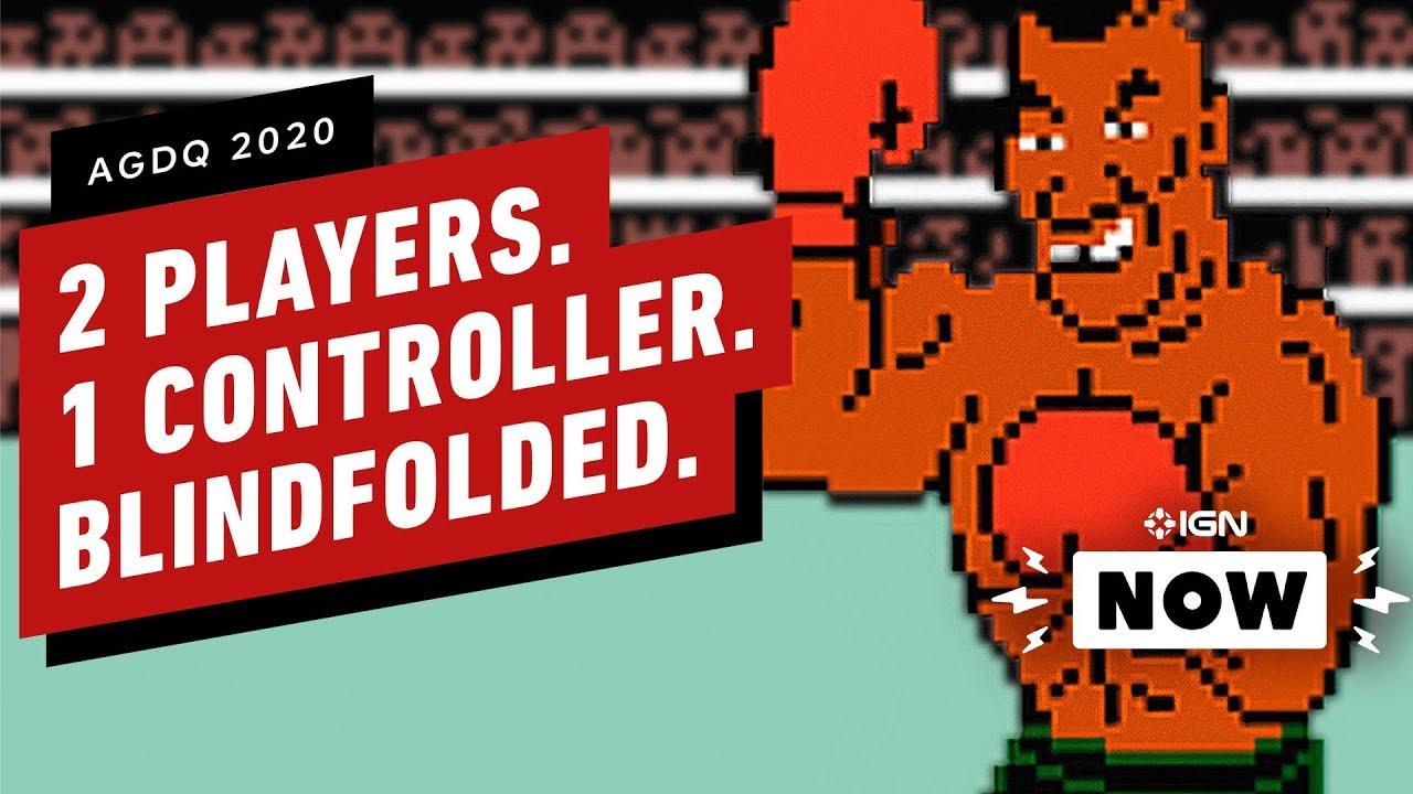 Dois jogadores de olhos vendados Um controlador = a mais louca briga de chefes de todos os tempos - IGN Now + vídeo