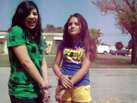 tween girls in handcuffs